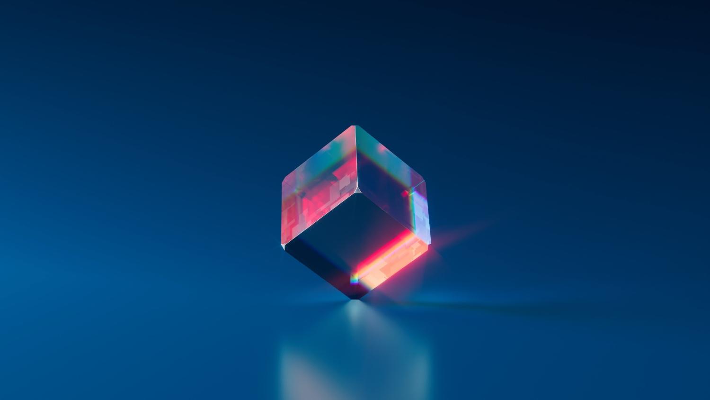 multicolor digital cube