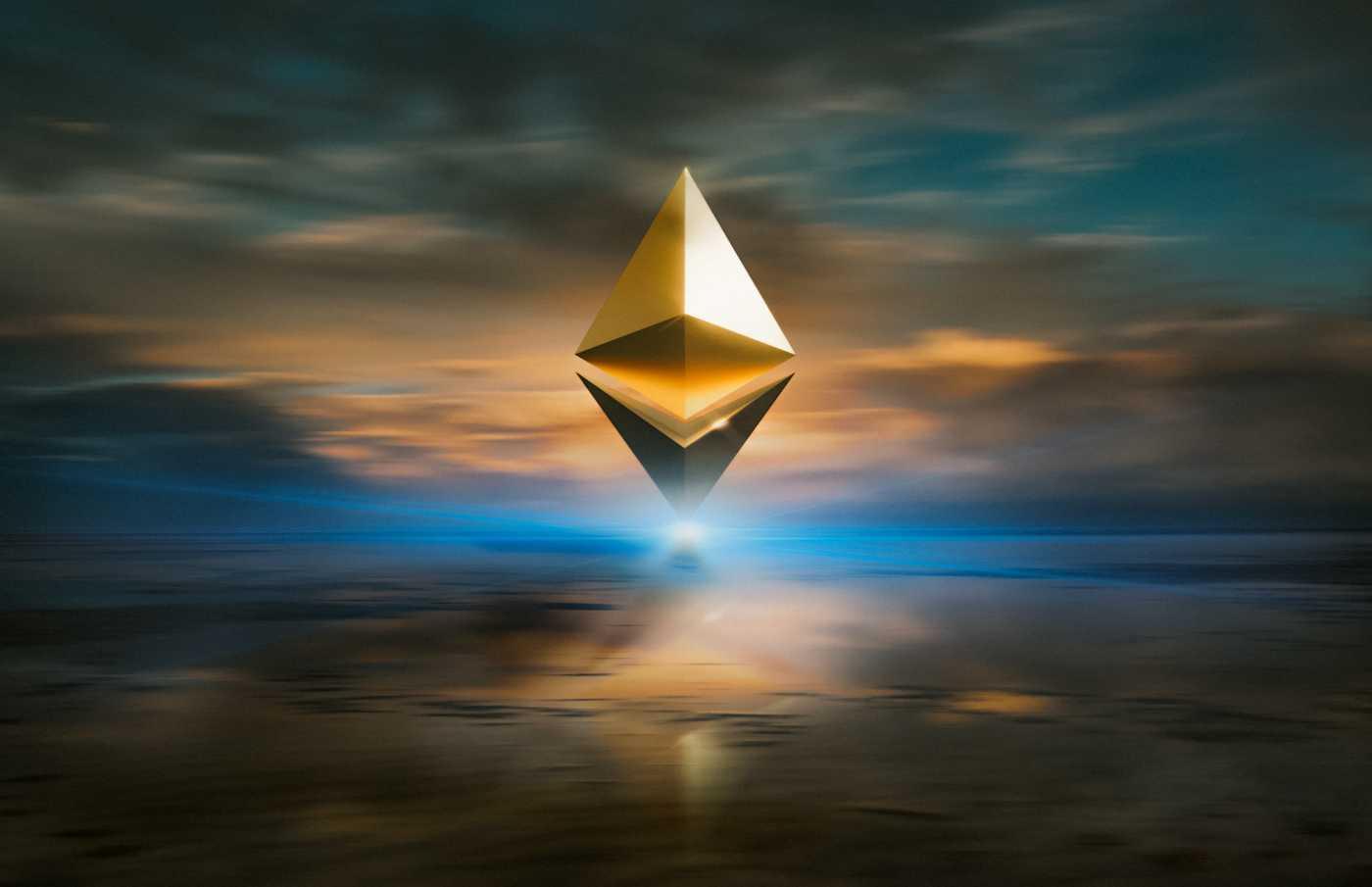digital representation of ethereum logo