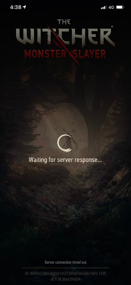 printscreen of server outage error in the witcher game