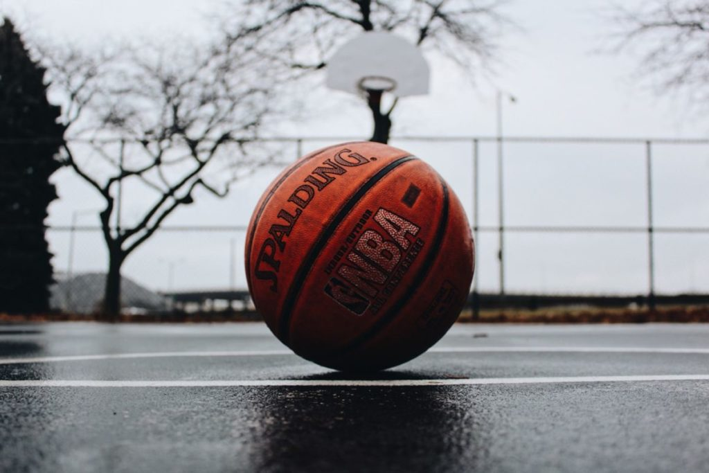 basket ball on a court